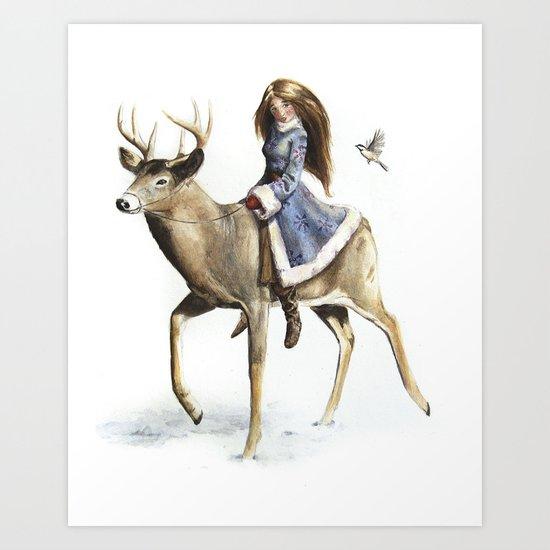 Winter Rider Art Print