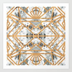 Marble Deco Shade One; Art Print