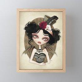 Countess Nocturne Vampire Framed Mini Art Print
