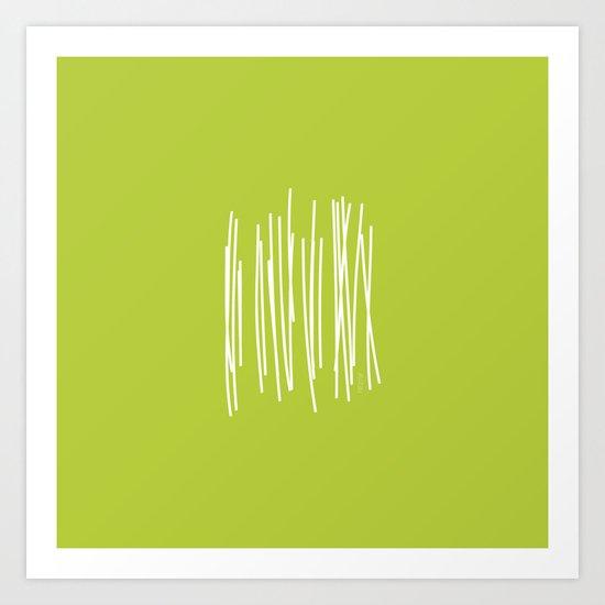Wood - Minimal FS - by Friztin Art Print