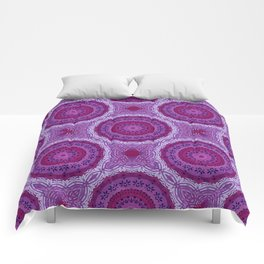 Circles in Purple Comforters