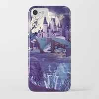 iPhone Cases featuring Never a Quiet Year at Hogwarts by Anne Lambelet