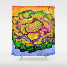Cabbage Rose Shower Curtain