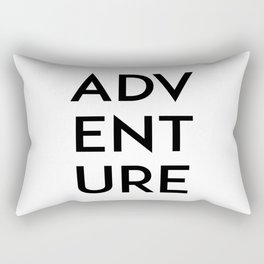 Inspirational Quote Travel Quote ADVENTURE Print Watercolor Letters Typography Print Wall Art Rectangular Pillow