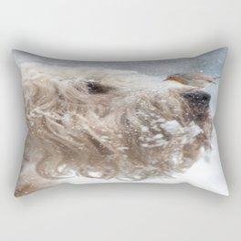 Wheaten Terrier with Robin Rectangular Pillow