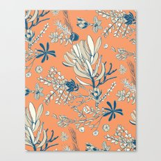 Orange Cradle Flora Canvas Print