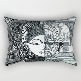 The Two Faces Buddha Rectangular Pillow