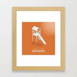 Never Forget to Play - Slide Framed Art Print