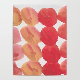11  | 190408 Red Abstract Watercolour Poster