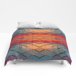 Purple On Fire Comforters