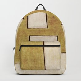 Protoglifo 06 'Mustard traverse cream' Backpack