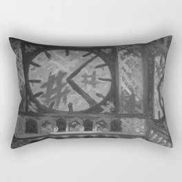 Big Ben by Lu, Black and White Rectangular Pillow