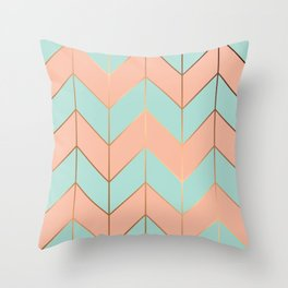 Marble Geometry 059 Throw Pillow