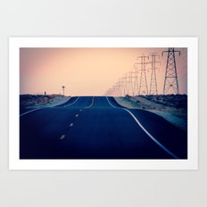 Lost Highway Art Print