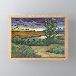 Lone Tree Framed Mini Art Print