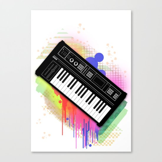 Synth Love Canvas Print