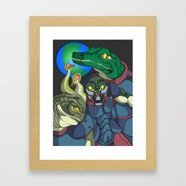 3 Reptilian Earth Framed Art Print