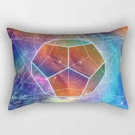 Abstract Sacred Geometry Cosmic Space Tapestry Rectangular Pillow