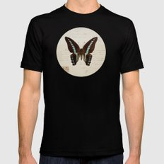 blue spotted butterfly Black MEDIUM Mens Fitted Tee