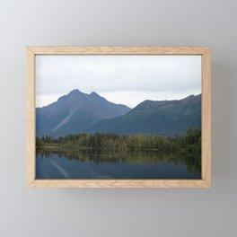 Fall Mountain Reflection Framed Mini Art Print
