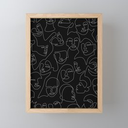 Face Lace Framed Mini Art Print