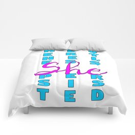 Nevertheless, She Persisted Comforters