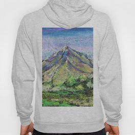 The view from Mashuk mountain (Pyatigorsk). Ladscape be pastel Hoody