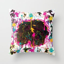 Messy Hair Day Throw Pillow