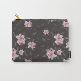 Painted Spring Lily Pattern Carry-All Pouch