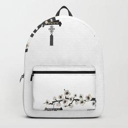 Japan blossom lantern flowers cherry temple Backpack
