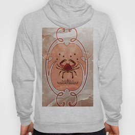Decorative crab in red colors Hoody