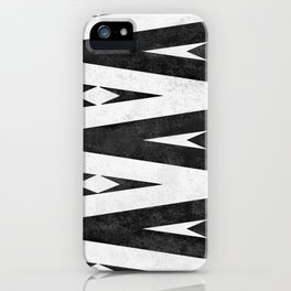 Tribal pattern in black and white. iPhone Case