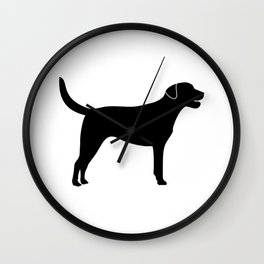 Black Labrador Retriever Silhouette #society6 #decor #buyart #artprint Wall Clock
