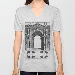 Arc de Triomphe Unisex V-Neck