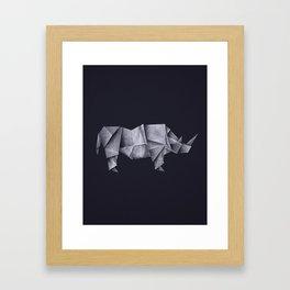 Rhinogami Framed Art Print