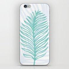 Palm Leaf in Blue and Green iPhone & iPod Skin