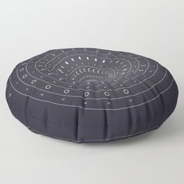 2019 Lunar Phases Calendar Floor Pillow