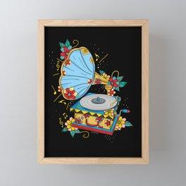 Gramophone Framed Mini Art Print