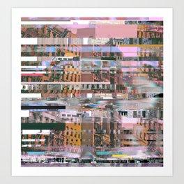 Urban Glitch Art Print