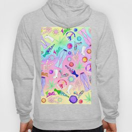 Psychedelic 70s Groovy Collage Pattern Hoody