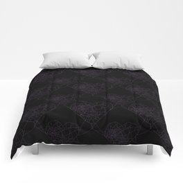 Heart shaped spider web pattern Comforters