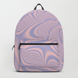 Whirly Bloom Fractal in Rose Quartz and Serenity Backpack