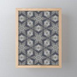 Silver Stars Pattern Framed Mini Art Print