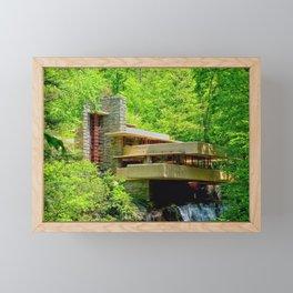 Frank Lloyd Wright | architect | Fallingwater Framed Mini Art Print