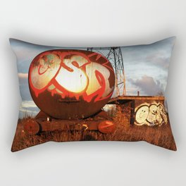 Abandoned Urban Train Yard Rectangular Pillow