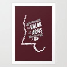 Mississippi Motto (Maroon) Art Print