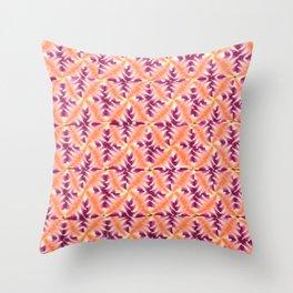 Raspberry Orange Repeat Throw Pillow