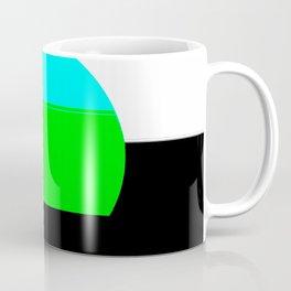Aqua Blue & Green Mod Art Coffee Mug