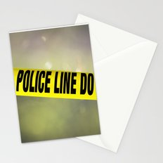 Police Line Do  Not Cross Stationery Cards