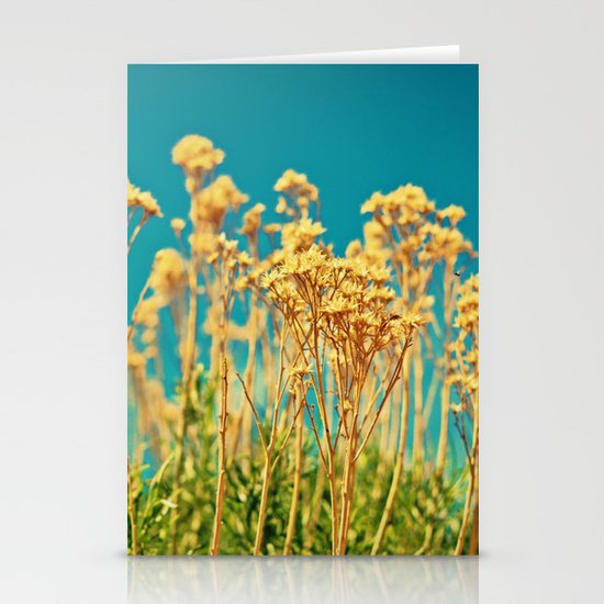 Blue & Gold & Green Stationery Cards